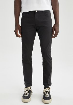 SLIM FIT  - Trousers - anthracite