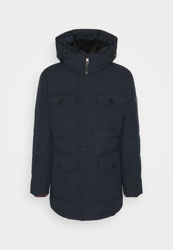 REMOVABLE HOODED - Parkas - blue