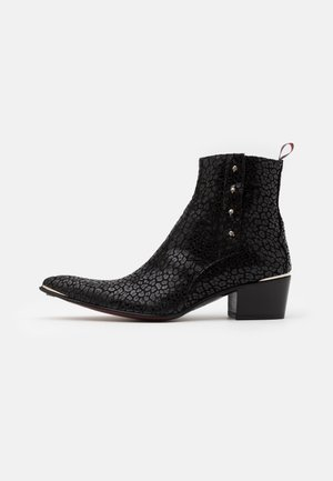 SYLVIAN ZIP DEVIL - Cowboy/biker ankle boot - black