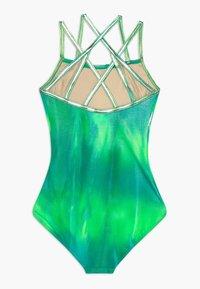 Capezio - GIRLS' GYMNASTICS DOUBLE STRAP LEOTARD - Danspakje - green/multi - 1