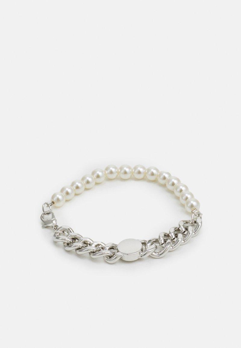 Urban Classics - FLAT CHAIN BRACELET UNISEX - Bracelet - silver-coloured