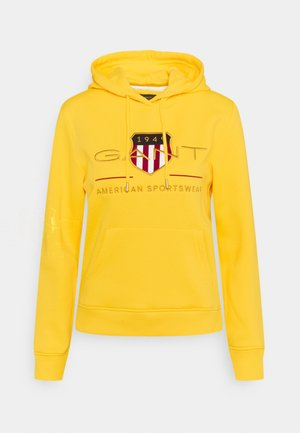 ARCHIVE SHIELD HOODIE - Mikina skapucí - solar power yellow
