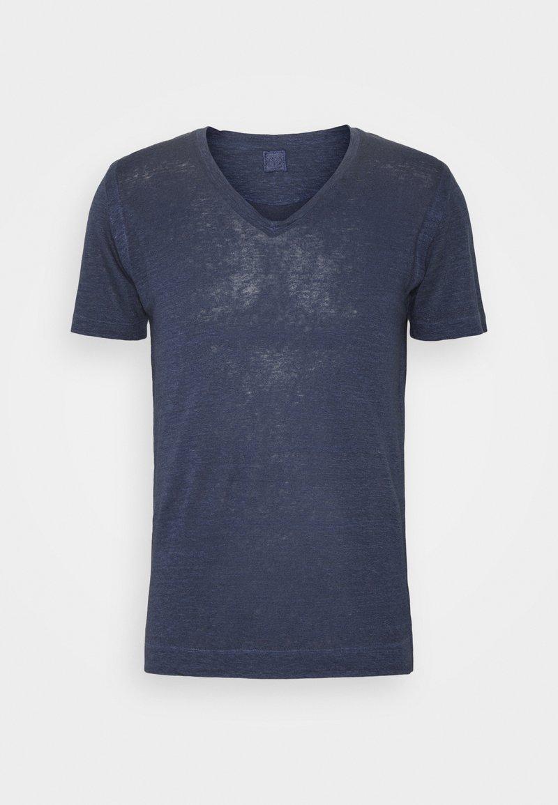 120% Lino - SHORT SLEEVE - Jednoduché triko - blue navy
