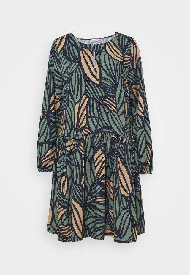 TIE NECK DRESS FEATHER - Robe d'été - night navy