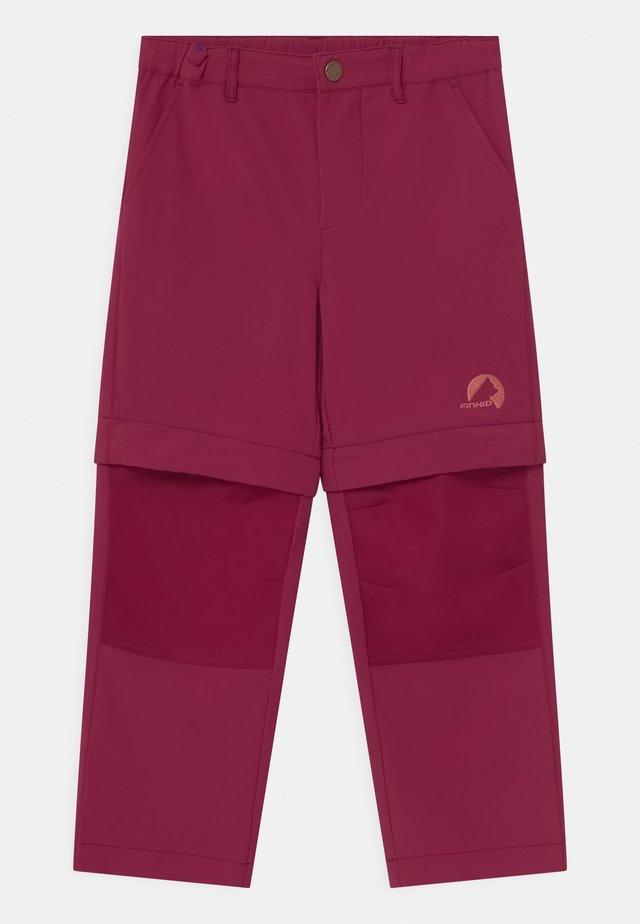 URAKKA MOVE 2-IN-1 UNISEX - Outdoorové kalhoty - beet red