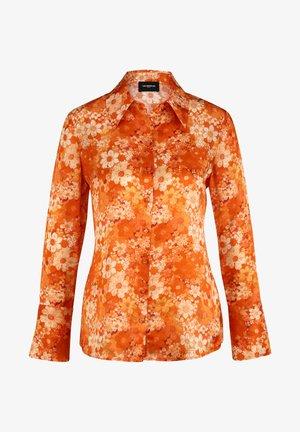 Button-down blouse - orange