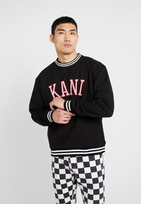 Karl Kani - COLLEGE CREW - Sweatshirt - black/red/white - 0