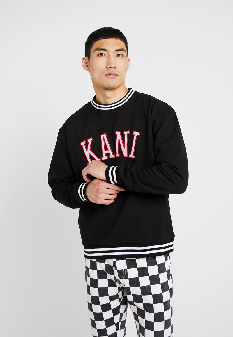 Karl Kani - COLLEGE CREW - Sweatshirt - black/red/white