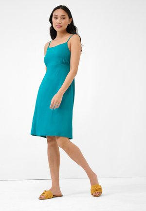 Jersey dress - dunkles türkis