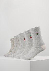 Even&Odd - 5 PACK - Socks - grey - 0
