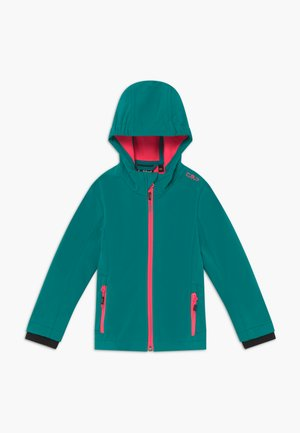 GIRL FIX HOOD - Soft shell jacket - lake