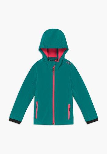 FIX HOOD - Soft shell jacket - lake
