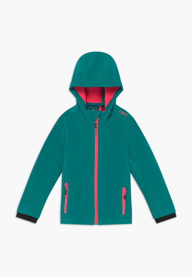 GIRL FIX HOOD - Kurtka Softshell - lake
