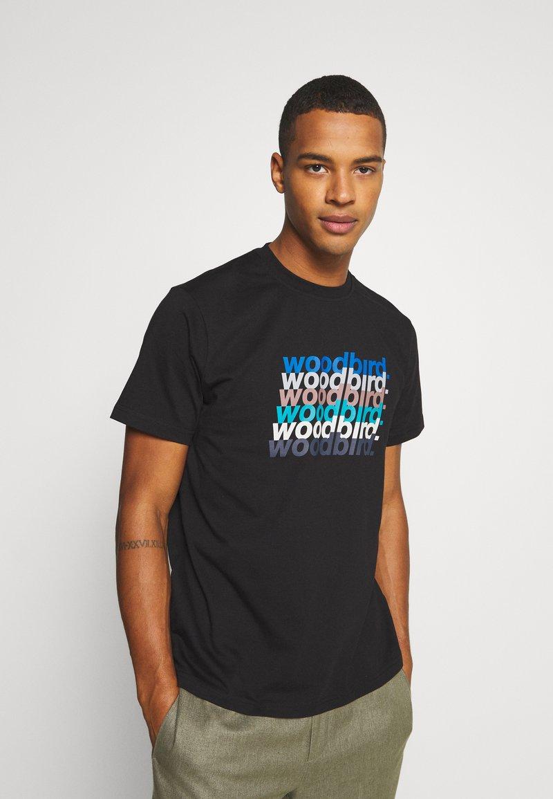 Woodbird - CREZ SHADOW TEE - Print T-shirt - black