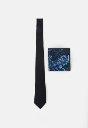 TIE PRINT HANKIE SET - Cravatta - black