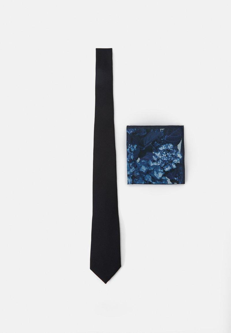 Burton Menswear London - TIE PRINT HANKIE SET - Slips - black