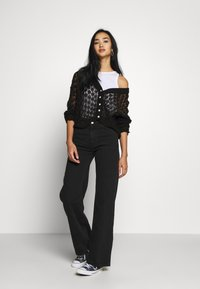 Monki - YOKO - Straight leg jeans - black dark - 1
