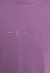 Edwin - KATAKANA EMBROIDERY - Print T-shirt - CHINESE VIOLET - 6