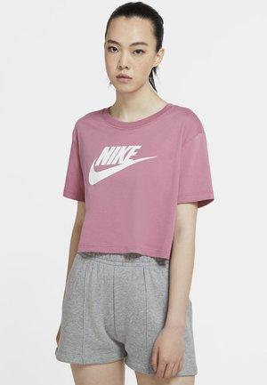 TEE - Camiseta estampada - desert berry/white