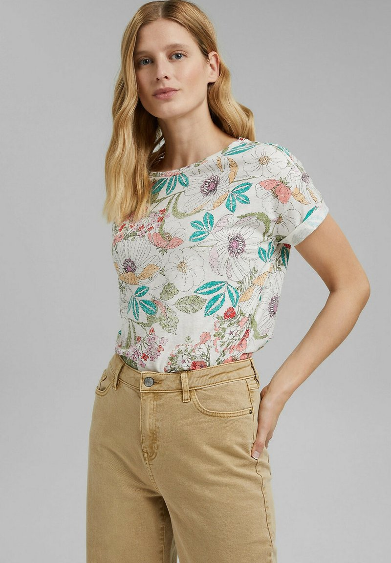 Esprit - Print T-shirt - turquoise colorway
