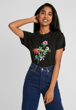 GRAPHIC VARSITY TEE - Print T-shirt - black