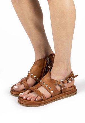 T-bar sandals - calvados
