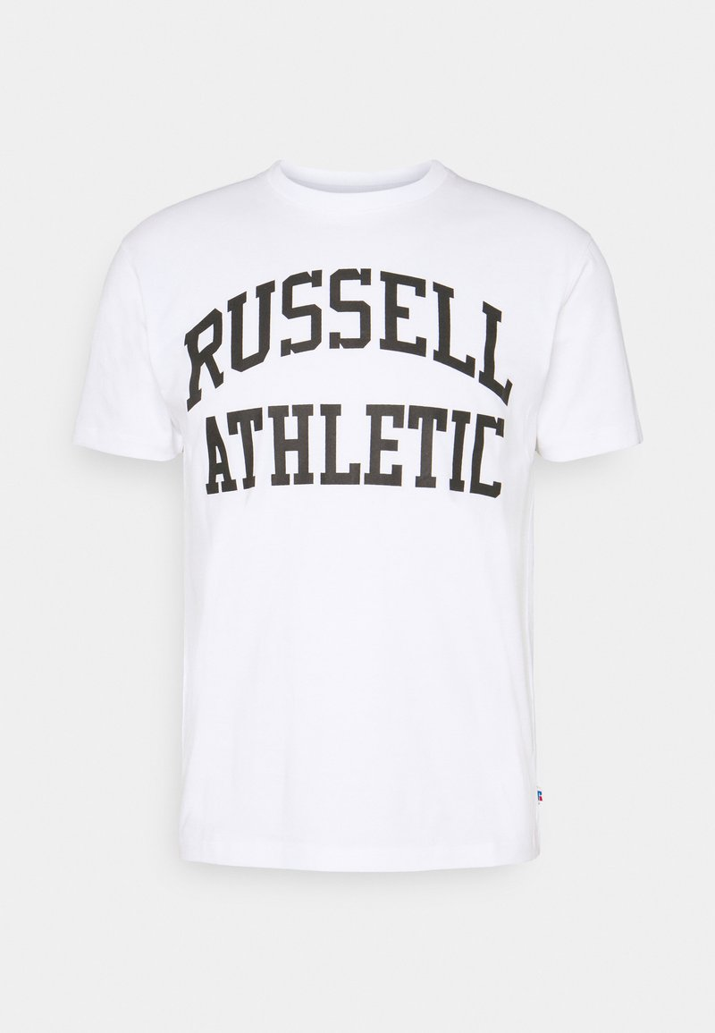 Russell Athletic Eagle R - ARCH LOGO CREWNECK TEE UNISEX - Print T-shirt - white