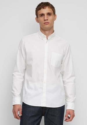 LONG SLEEVE ONE POCKET STITCHED GENUINE PLACKET - Camicia - white
