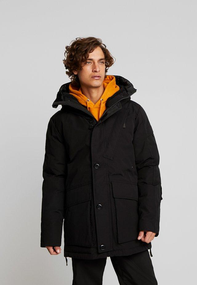 SHORT - Winter coat - dark black