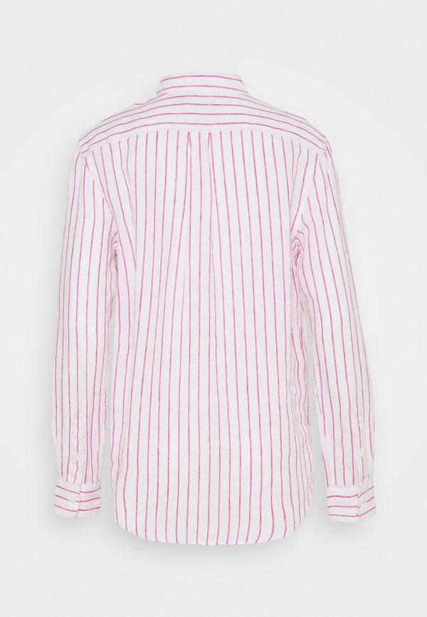 Polo Ralph Lauren STRIPE LONG SLEEVE - Koszula - white/pink/biały DRIH