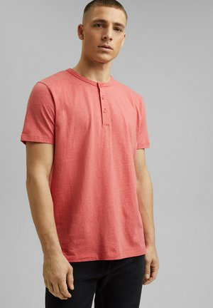 HENLEY  - Basic T-shirt - coral red
