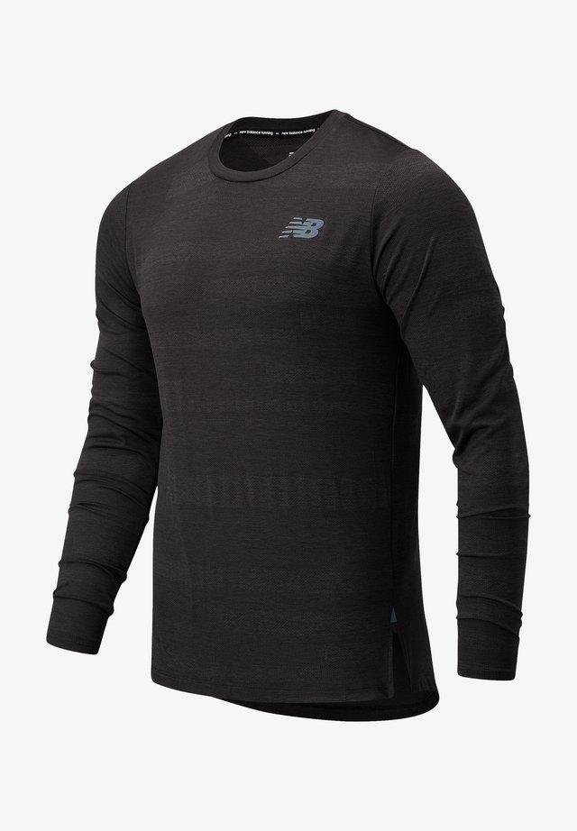 T-shirt à manches longues - black heather