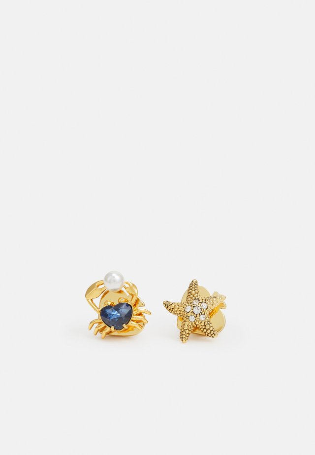 STARFISH AND CRAB STUDS - Örhänge - blue multi