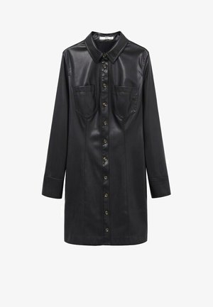 NASTIA - Shirt dress - nero