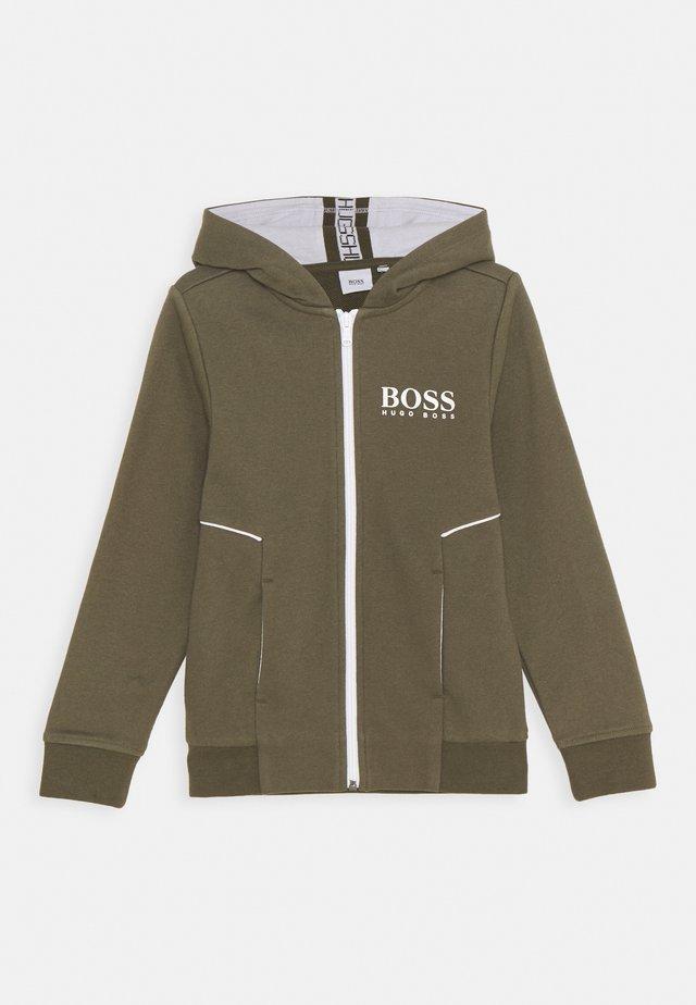 CARDIGAN - veste en sweat zippée - khaki