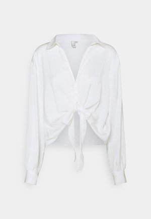 LET ME KNOW TIE - Blouse - white