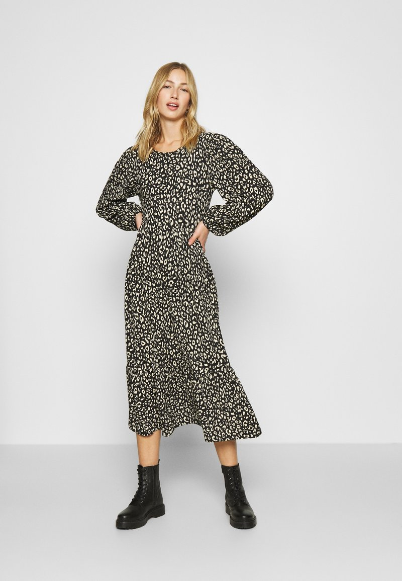 ONLY - ONLZILLE LAYERED DRESS - Day dress - black