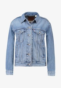 Levi's® - EX BOYFRIEND TRUCKER - Kurtka jeansowa - soft as butter mid - 5