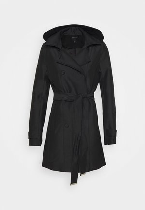 HOODED - Trenchcoat - black