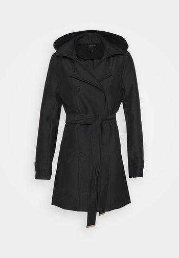 HOODED - Trenchcoat - black