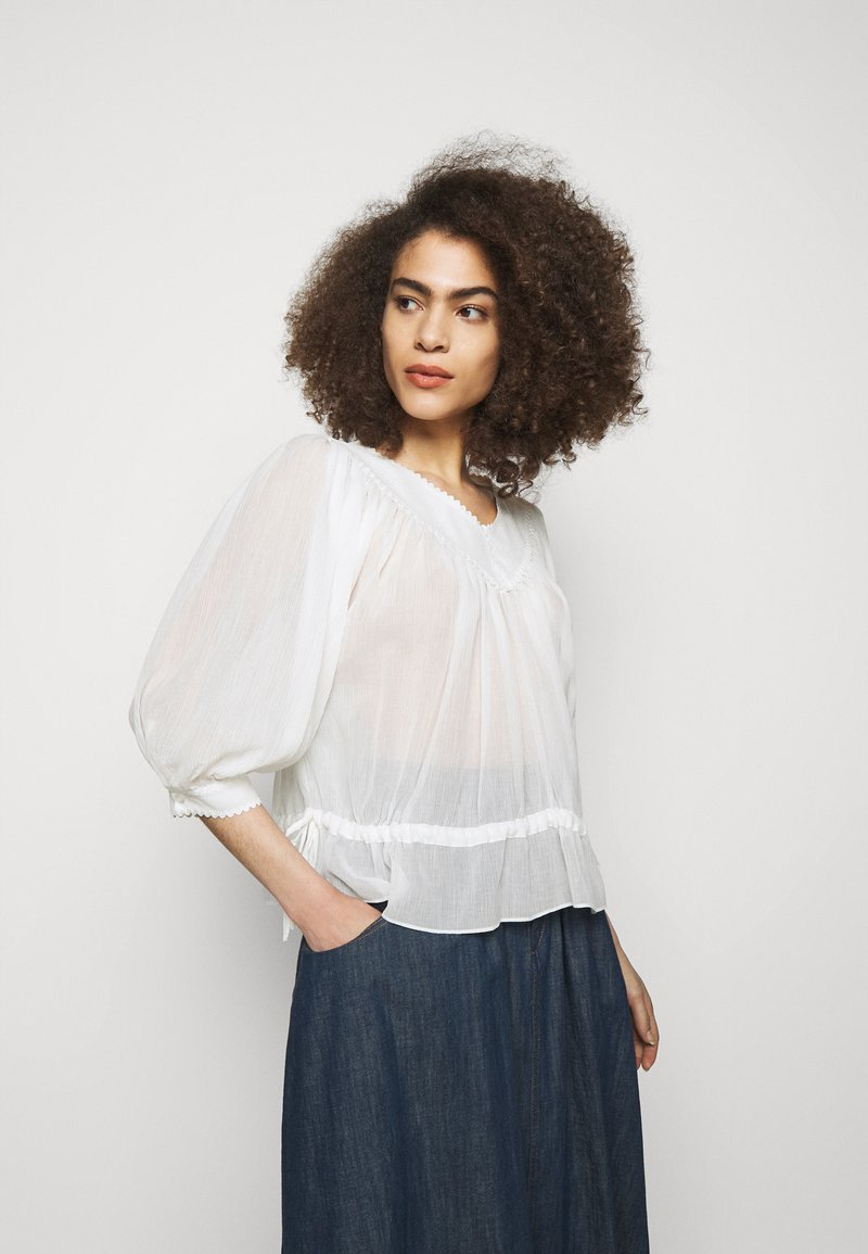 See by Chloé - Blouse - crystal white