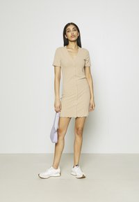 Vero Moda - VMARIA SHORT BUTTON DRESS - Jersey dress - beige - 1