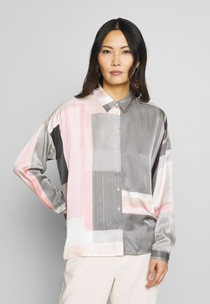 RIKKEIW - Button-down blouse - pink big check