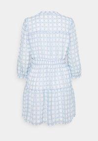 ONLY - ONLPLUM 3/4 DRESS  - Vestido camisero - blue fog/cloud dancer - 1