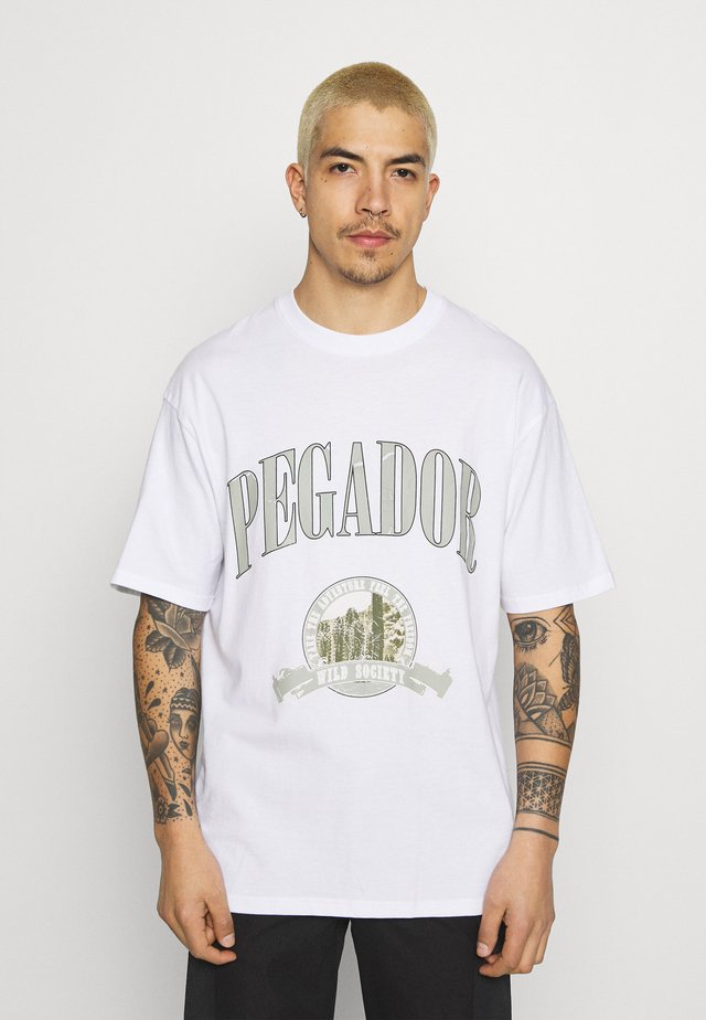 UTAH TEE UNISEX - Print T-shirt - white