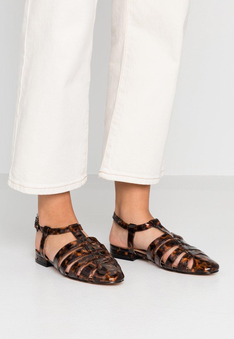 Topshop - OLIVE OPEN SHOE - Sandals - tortoise