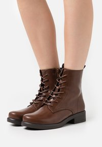 Anna Field Wide Fit - Lace-up ankle boots - dark brown - 0