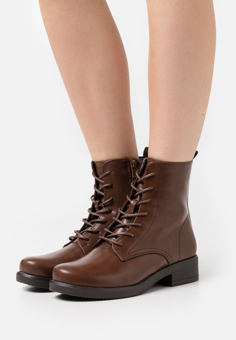 Anna Field Wide Fit - Lace-up ankle boots - dark brown
