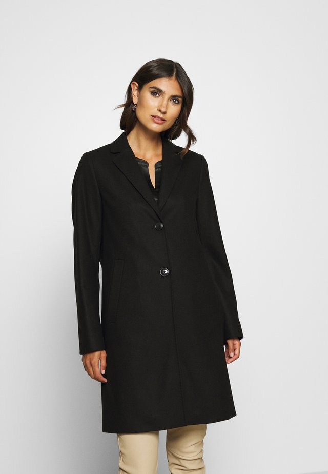 SINGLE BREASTED WELT POCKETS - Classic coat - black