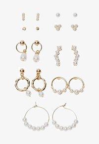 IN SCHILDPATTOPTIK - Earrings - white